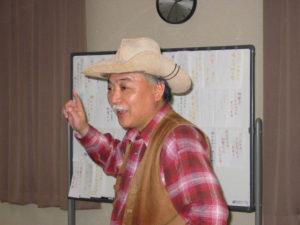 楽しそうに話をする講師の菊池修さん