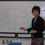 講師の中村さん。Oh!数字がいっぱ~い!