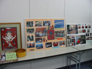 学校の様子についての展示。