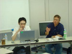 お話される講師の佐村さん、冨永さんです。