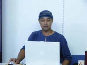 百姓と名乗る井上義さんです。