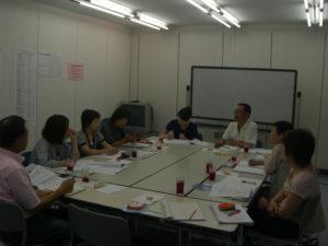 グループ討議を行っています。