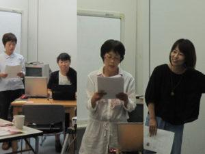 各団体がプレゼン練習をしています。