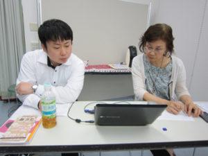 準備会終了後も久津摩さんと渡邉さんの反省会・検討会が行われています。
