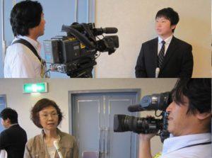 テレビ局から取材を受けています。