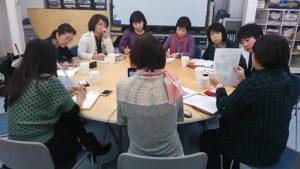 NPO法人こどもステーションのメンバーによる会議です。