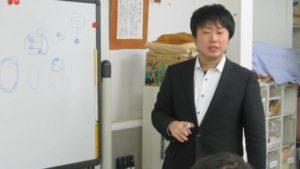 久津摩さんによるお話の様子です。